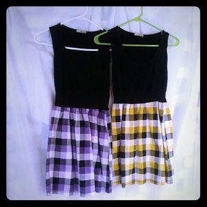 Pair of mini dresses